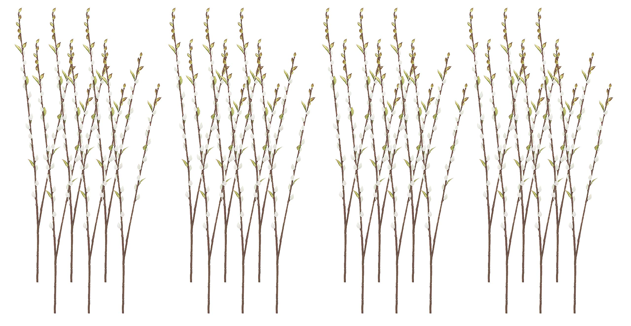 """silk flower arrangements 36"""" pussy willow spray gray (pack of 24)"""