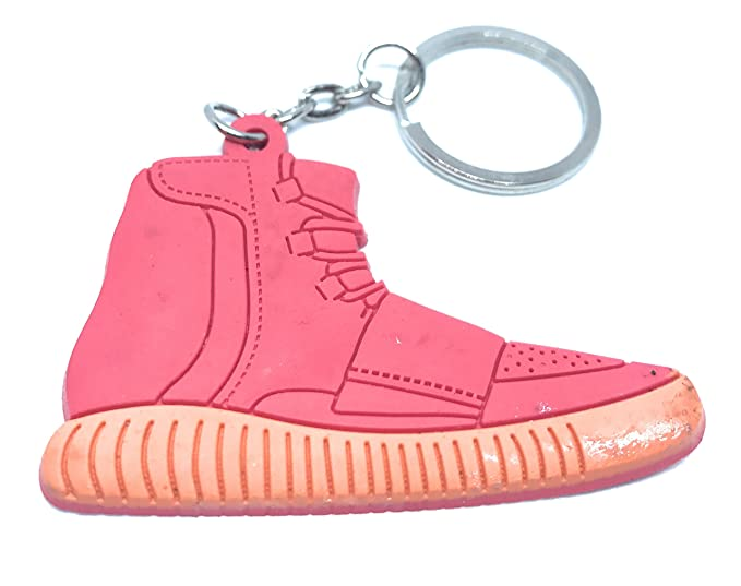8f5e8a1ebf5 Image Unavailable. Image not available for. Color  Yeezy Originals Red  Orange Boost Flat 2-D Keychain Shoe