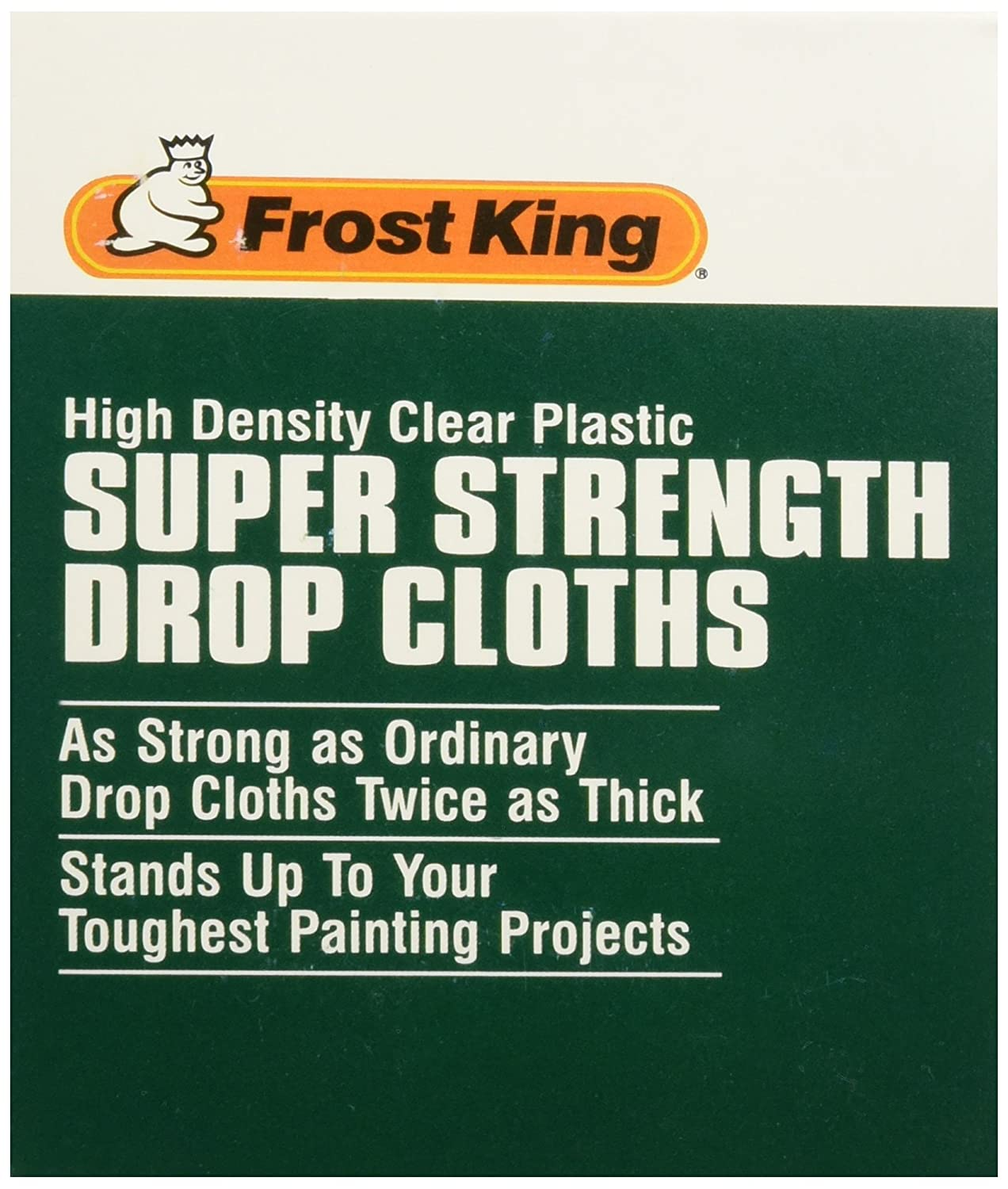 Dispenser Pack Frost King P12400 12 x 400//0.31ml High Density Painters Plastic Sheeting Clear