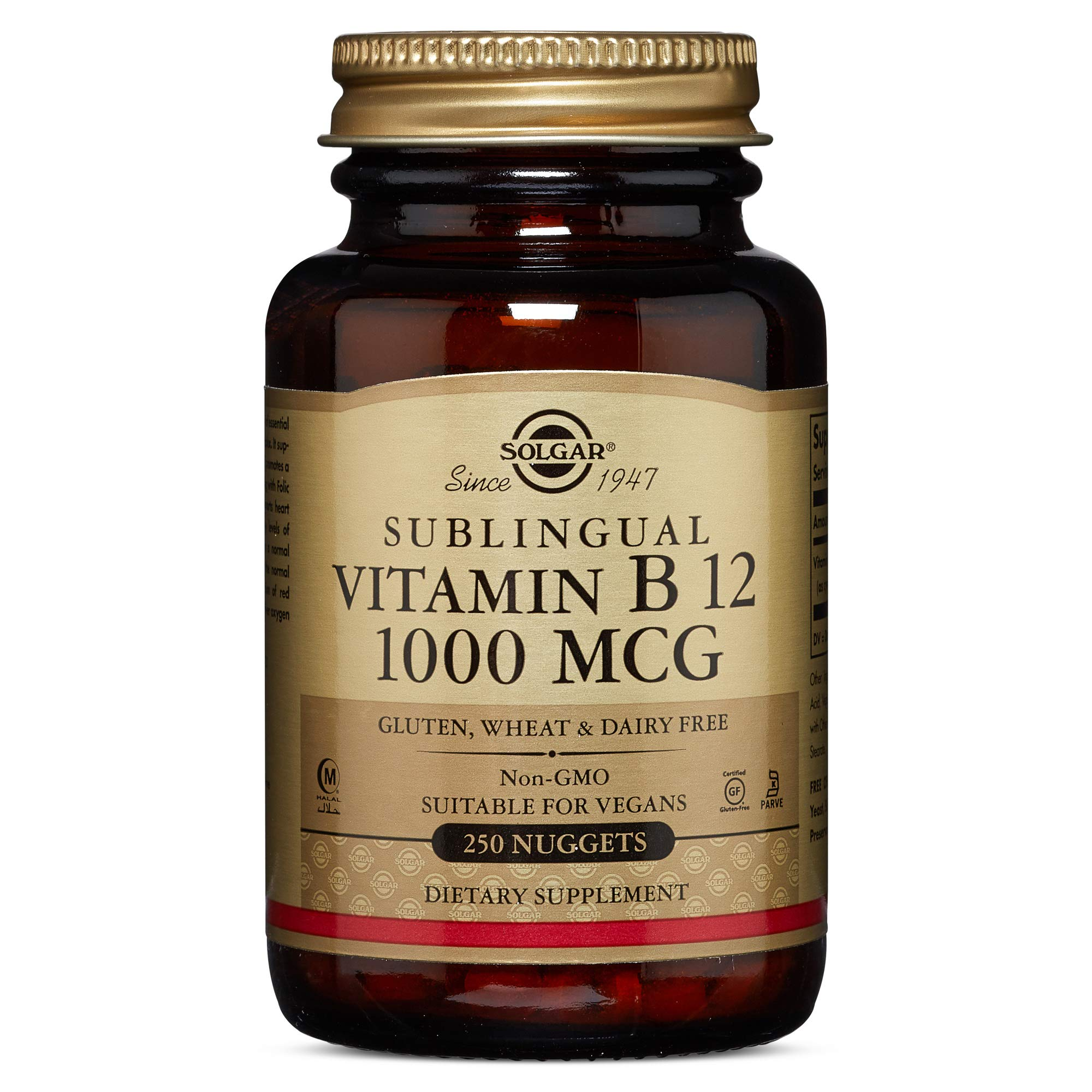Solgar - Vitamin B12, 1000 mcg, 250 Nuggets by Solgar