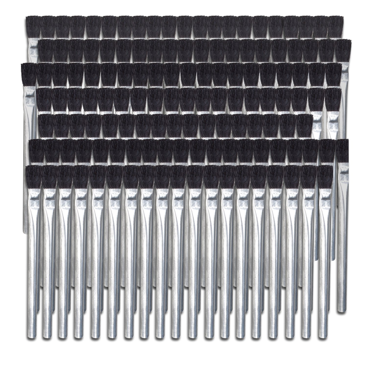 Mercer 191300 Acid Brush 5-3/4'' x 3/8'' Horsehair Fill, 144-Pack