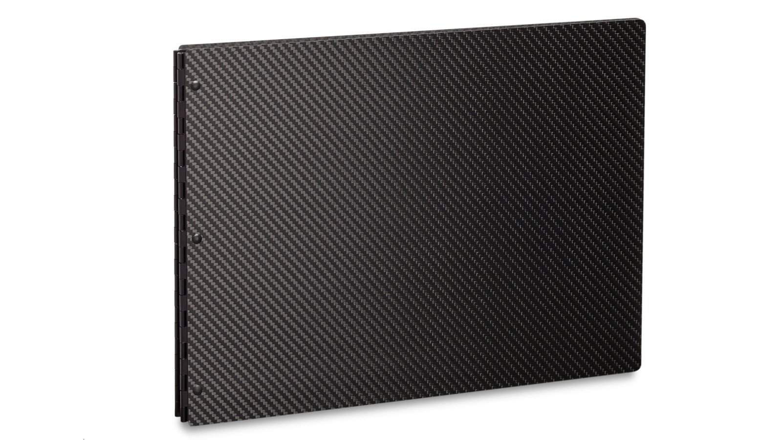 Pina Zangaro Carbon Fiber 8.5x11 Portrait Screwpost Binder, Black by Pina Zangaro