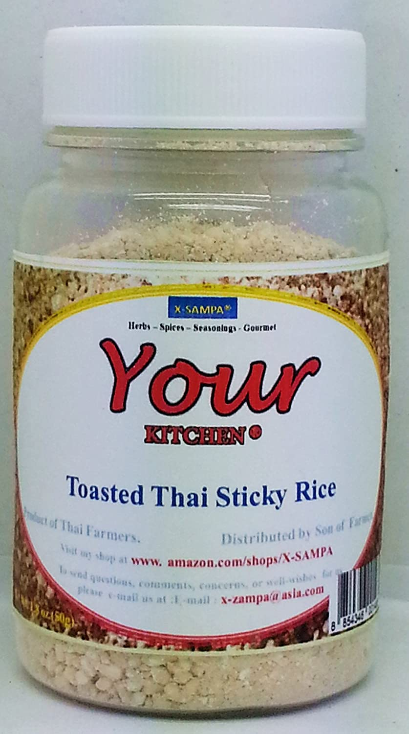 Amazon.com : Yours Kitchen - Toasted Rice or Thai Sticky Rice Powder ...