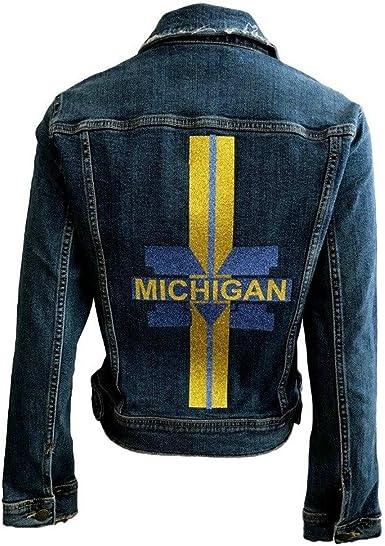 Hipchik Michigan Denim Jacket College