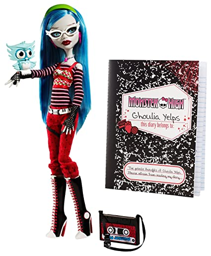 amazon com monster high ghoulia yelps doll with pet owl sir hoots a