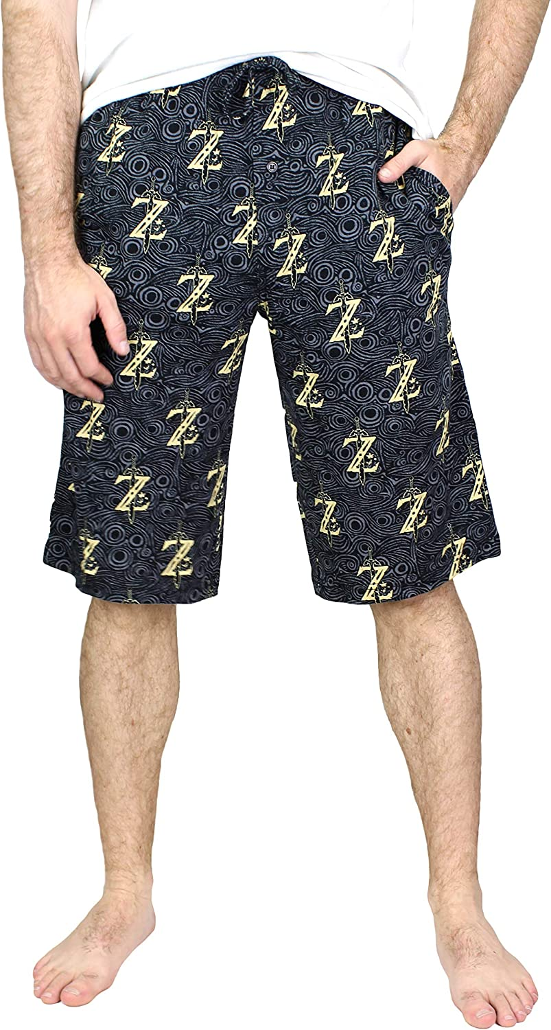 MJC Men's The Legend of Zelda Long Lounge Shorts