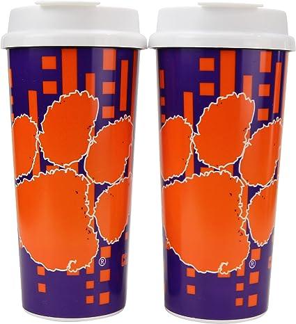 Whirley Drink Works NCAA Digital Plastic 16oz Travel Mug 2 Pack
