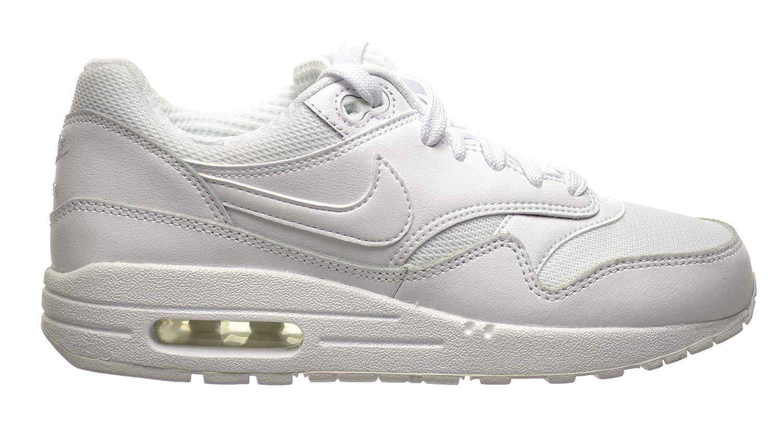 reputable site ff86a 7269e Amazon.com  Nike Air Max 1 (GS) Big Kids White White 555766-119 (7 M US)   Shoes