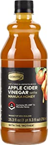 Comvita Apple Cider Vinegar with UMF 5+ Manuka Honey I Cold Pressed, Non-GMO Honeycrisp Apples from New Zealand I Unfiltered, Unpasteurized I 25.3 oz (50 servingsper Bottle)