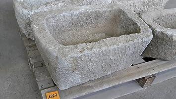 Der Naturstein Garten Alter Trog Aus Granit 54 Cm Lang Brunnen