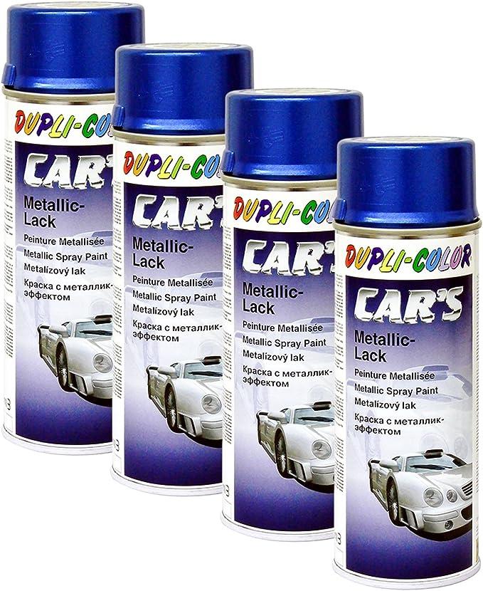 Dupli Bundle 4x Dupli Color Cars Metallic Lack Spray Azurblau 400ml 706837 Auto