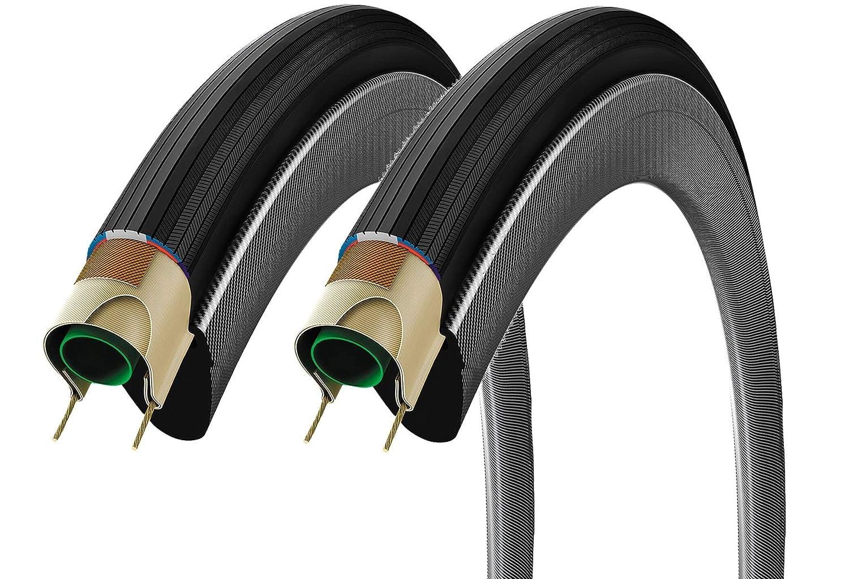 2本セット Vittoria ヴィットリア CORSA CONTROL コルサコントロール クリンチャータイヤ 700c Clincher Tire [並行輸入品] 700×25c フルブラック B07L6FV8X8