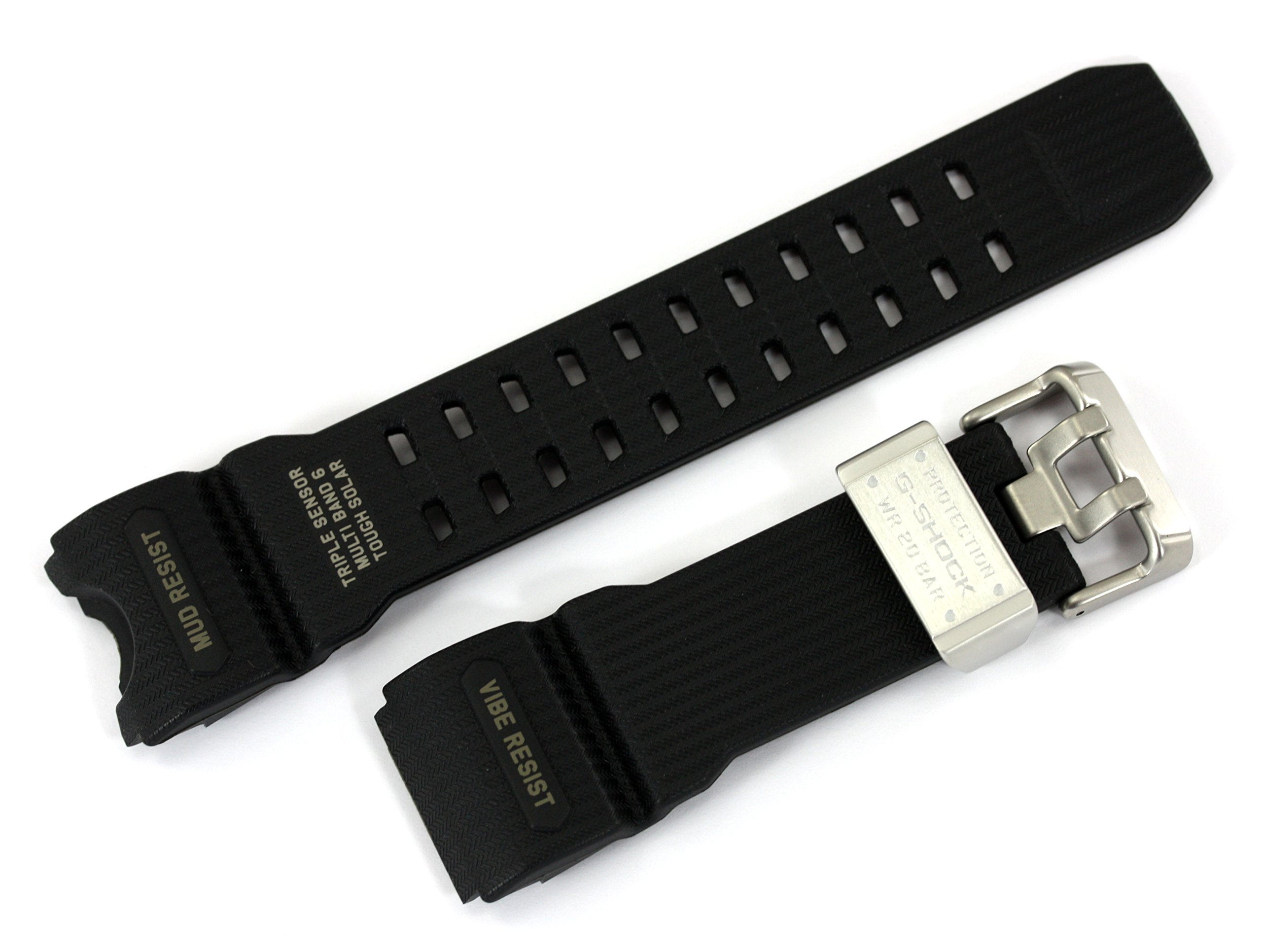Casio 10504384 Genuine Factory Replacement Resin Watch Band fits GWG-1000-1A