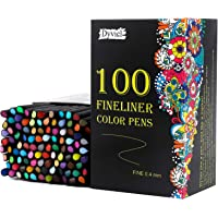 Dyvicl 100-Colors 0.4mm Fineliner Color Pen Set