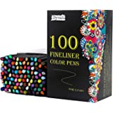 Dyvicl Fineliner Fine Point Pens, 100 Colors 0.4mm Fineliner Color Pen Set Fine Point Markers Fine Tip Drawing Pens for Bulle