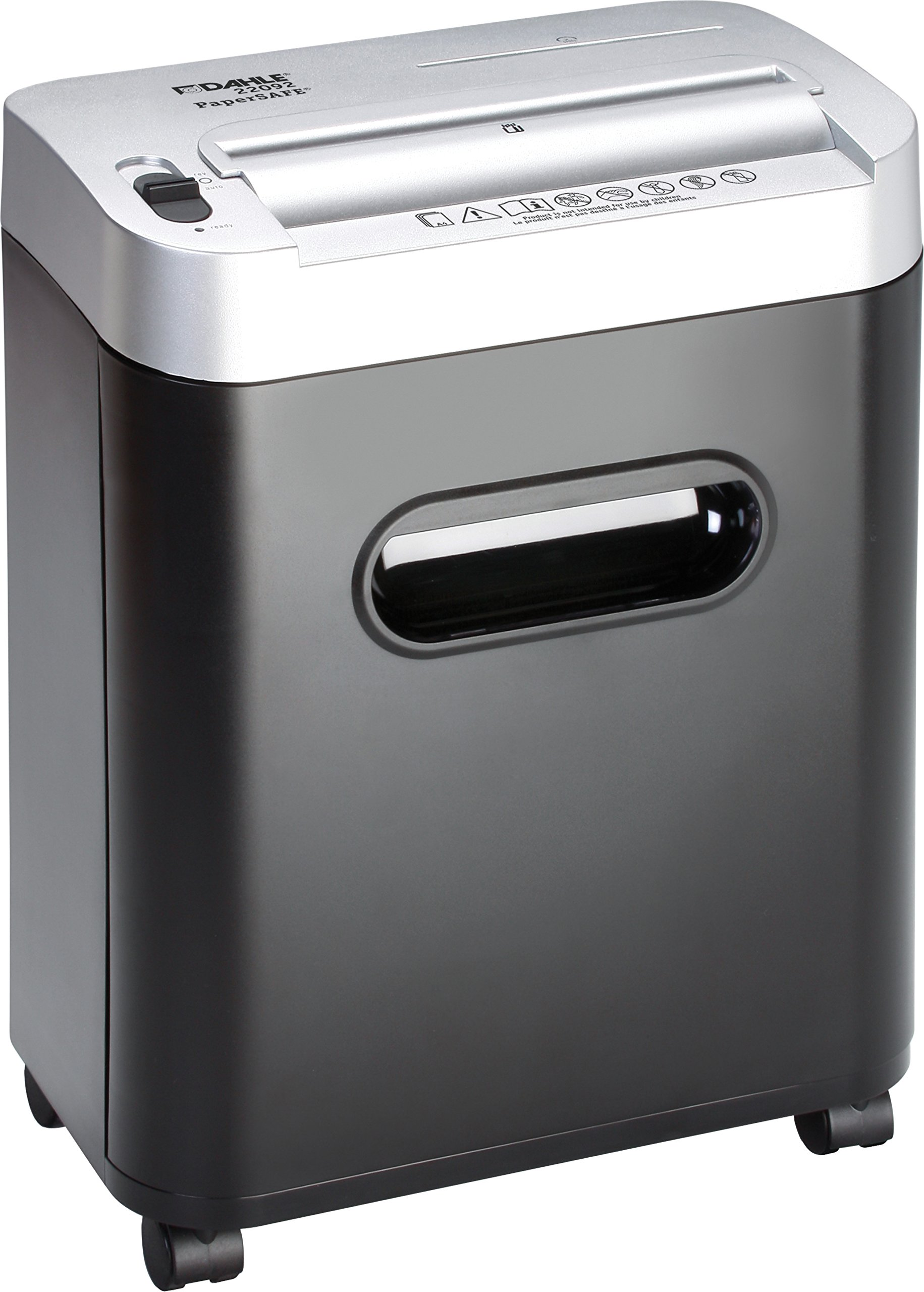 Dahle PaperSAFE 22092 Paper Shredder, Oil Free / Hassle Free, Security Level P-4, 10 Sheet Max, Shreds CDs, Credit Cards & Paper Clips