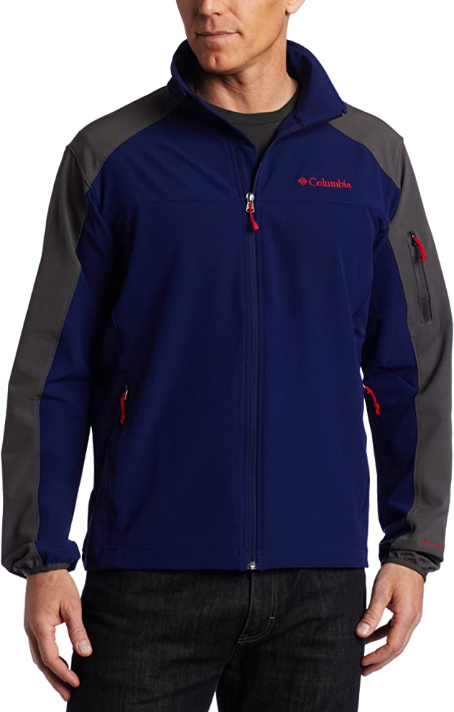 Columbia Mens $115 Black Gray Shadow Heights Full Zip Jacket Choose Size