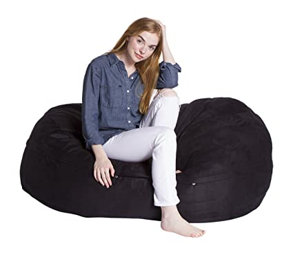 Swell Giant Bean Bag Chairs Econo Foam Filled Lounge Sac Vintage Seude Onthecornerstone Fun Painted Chair Ideas Images Onthecornerstoneorg