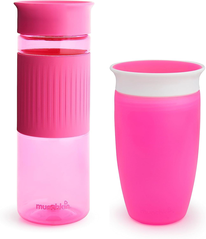 Munchkin Miracle 360 Sippy Cup, Rosado, Combo Pack: Amazon.es: Bebé