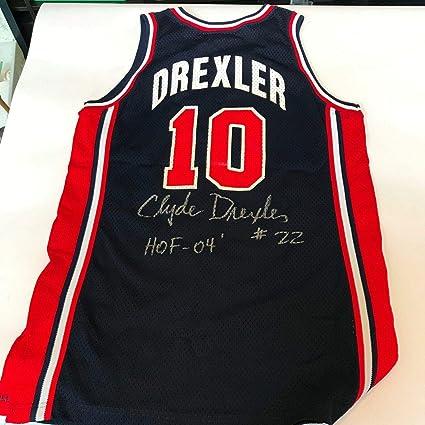 Clyde Drexler 1992 Team USA Dream Team Signed Game Used Jersey Olympics COA  - JSA Certified 50c25c7b1