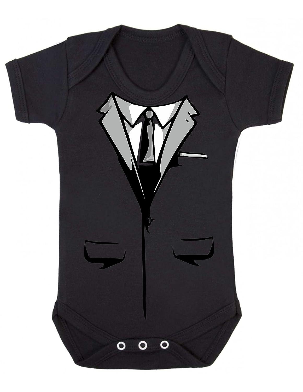 3-6MTHS, Black Bullshirts Secret Agent Suit Babygrow