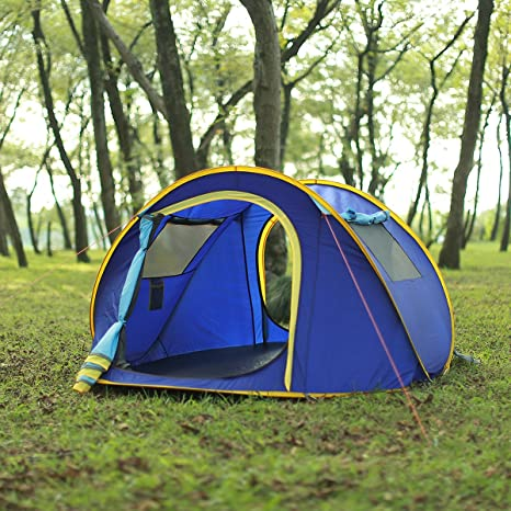 EZOLY Instant Pop Up Camping Dome Tent for 3-4 Person Automatic Setup Family Waterproof Shelter for Outdoor Hiking