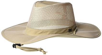 9104169f49b1e Stetson Men s Insect Shield Big Brim Mesh Safari Hat  Amazon.in ...