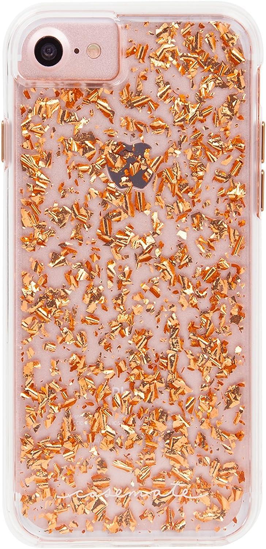 Case-Mate - iPhone 7 Case - Karat - Metallic Rose Gold Highlights - for iPhone 7 / 6s / 6 - Rose Gold