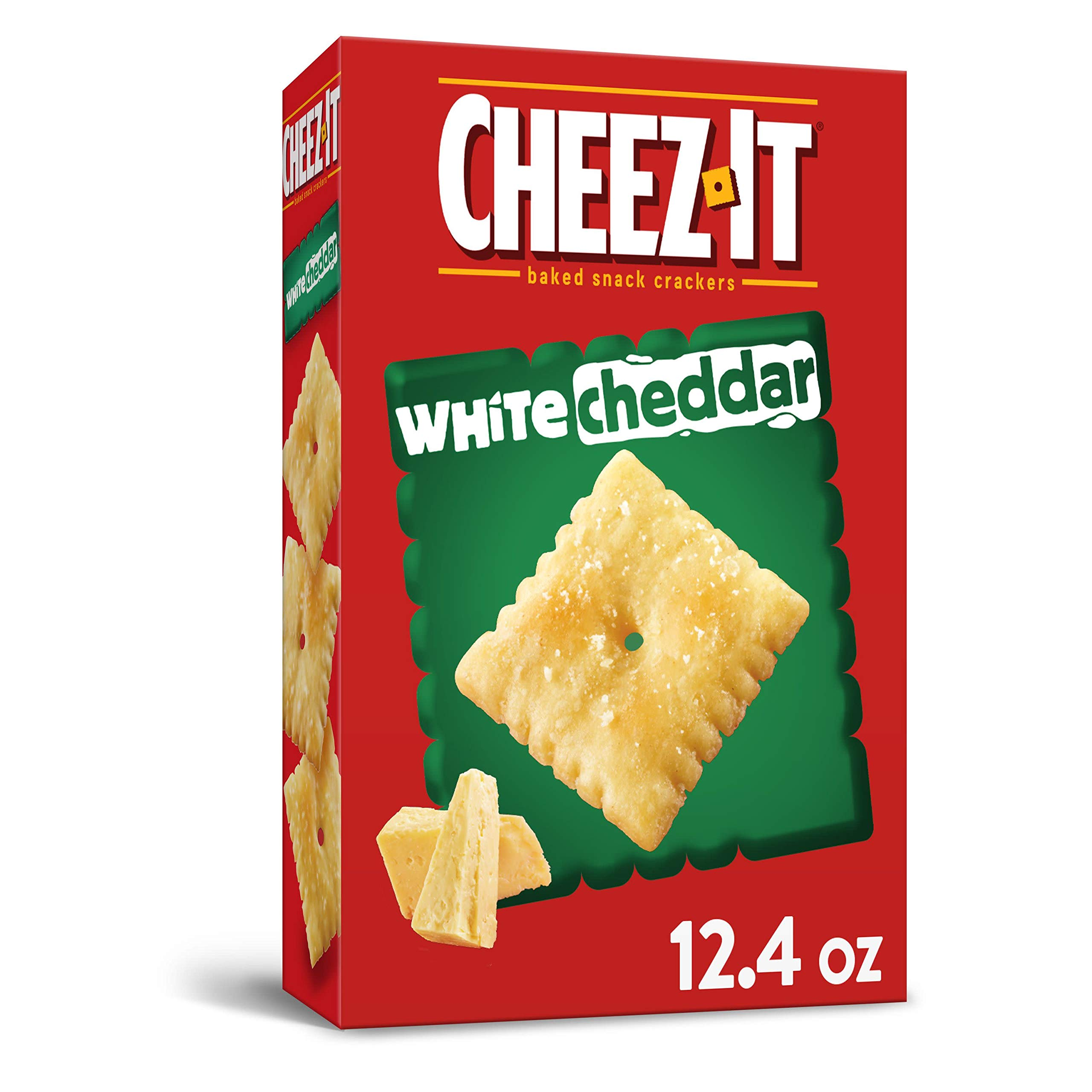 Cheez-It Baked Snack Cheese Crackers, White Cheddar, 12.4 oz Box