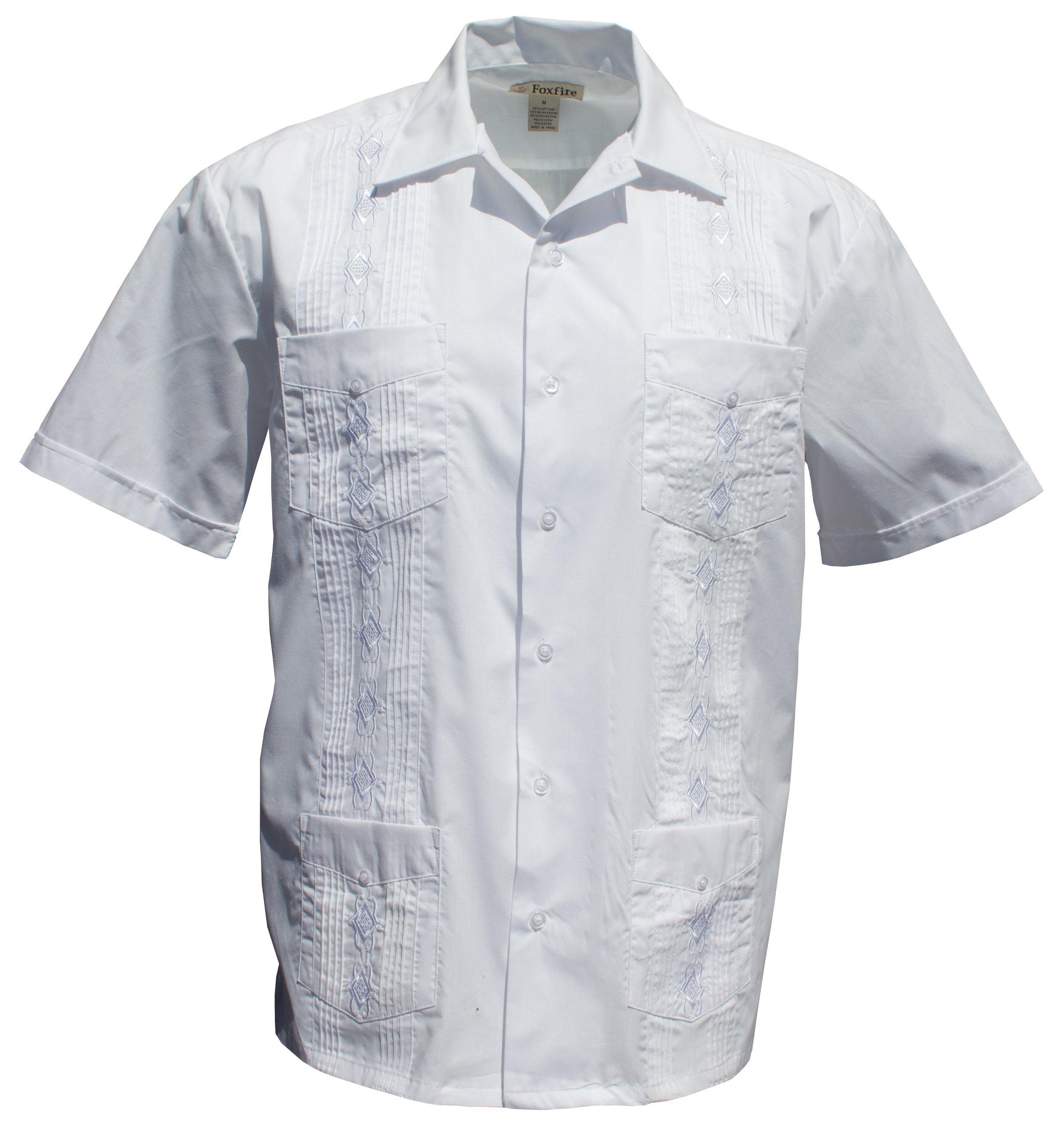Foxfire Sportswear Men's White Guayabera Shirt Size 2X-Tall