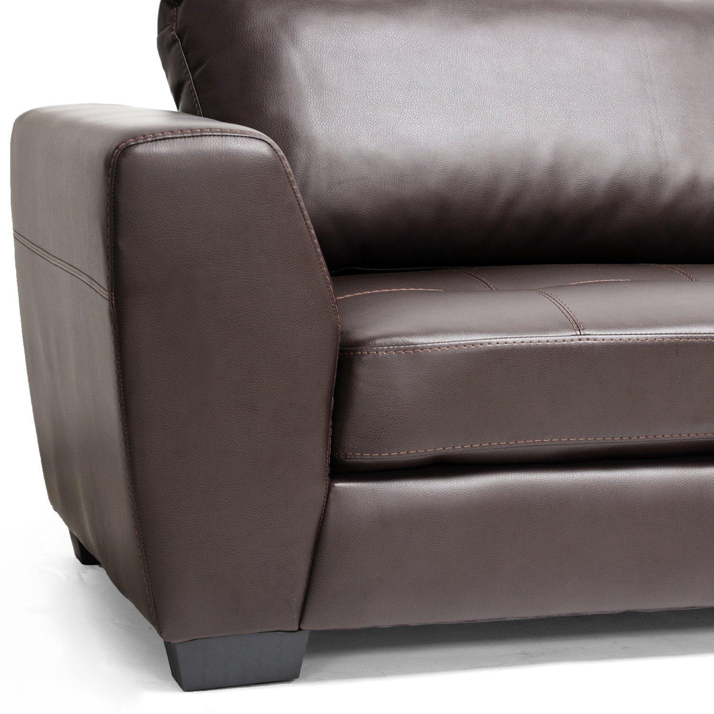 Amazon Baxton Studio Orland Bonded Leather Modern Sectional