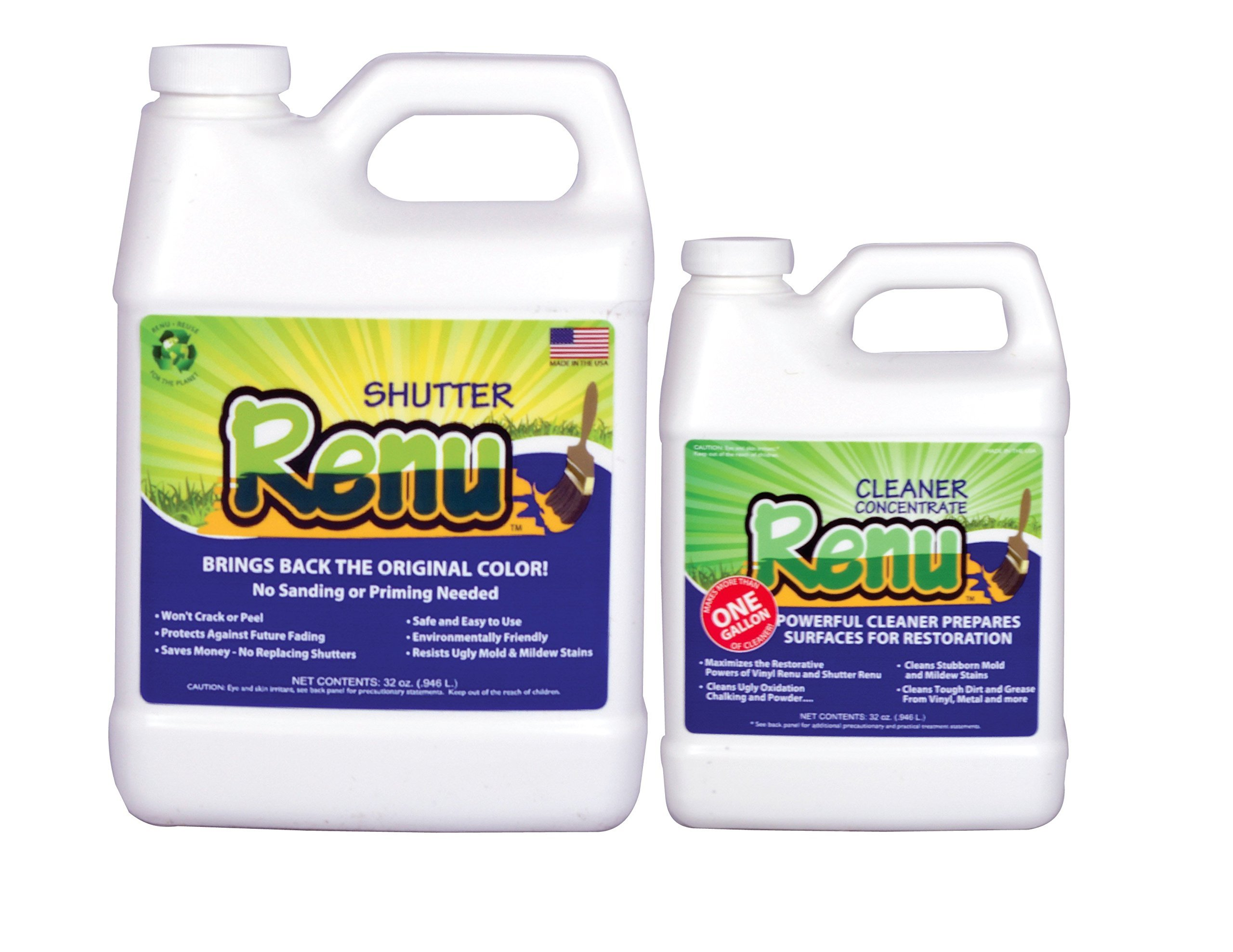 Shutter Renu 18-24 Shutter Kit Restores Original Color And Luster To Faded Shutters. Immediate Results. Apply Once Every 10 Years. No Toxic Odors. Use on shutters, garage doors, mailboxes and more. by Shutter Renu (Image #1)