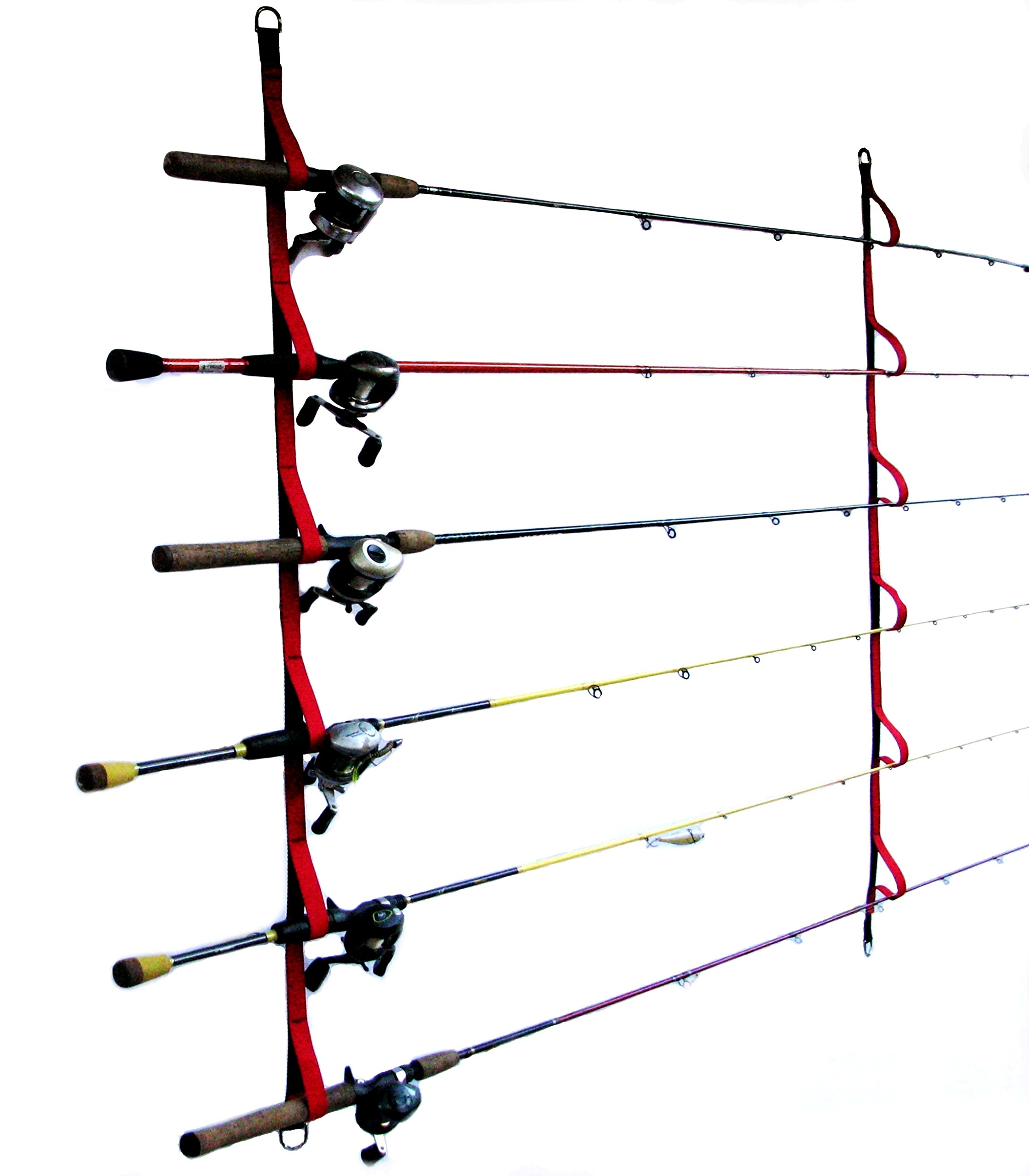 Campingandkayaking Overhead or Wall Rod Storage System. Two Sizes to Choose From. 6 Rod Positions or 9 Rod Positions. (6 rod)