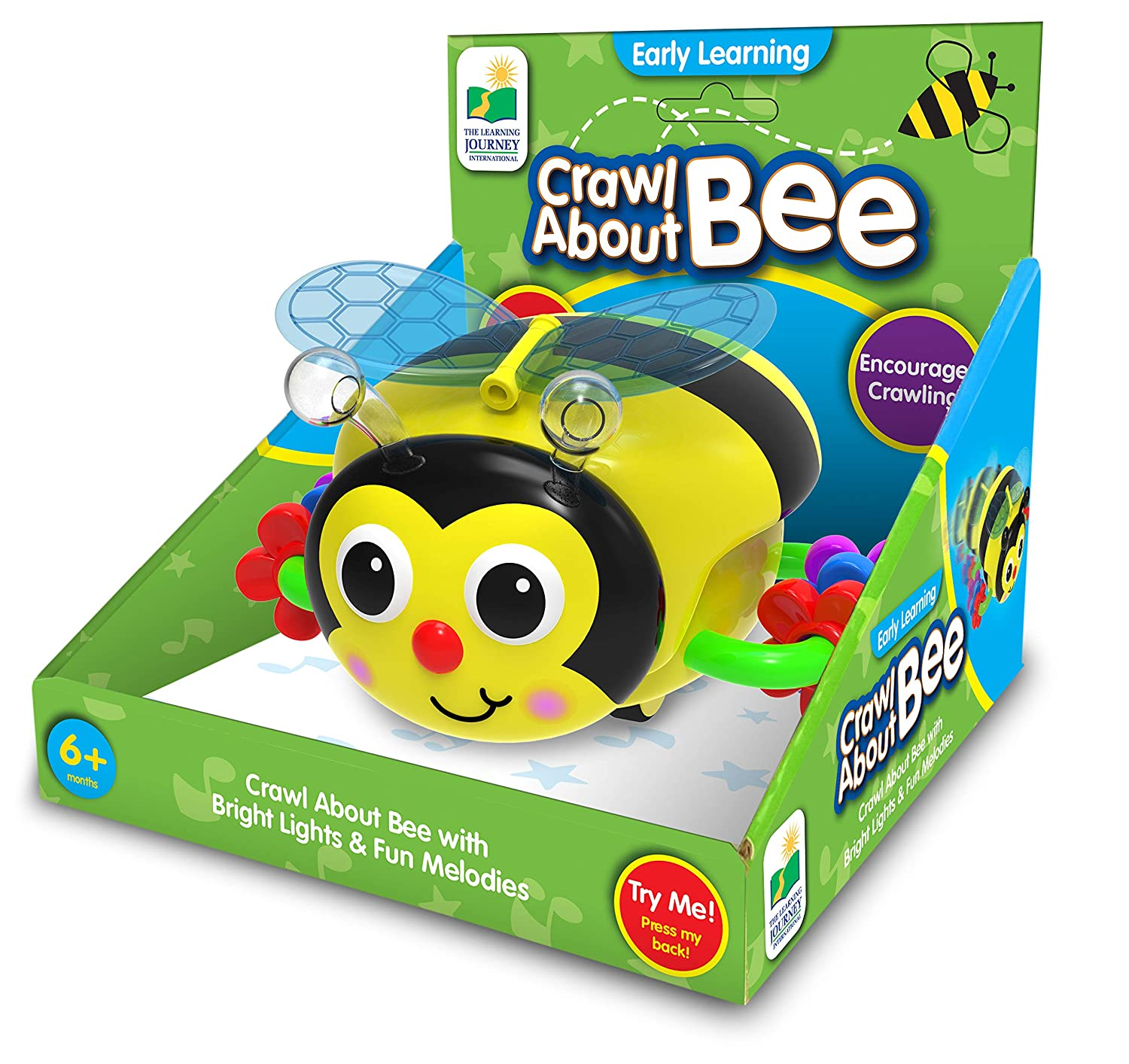 The Learning Journey Crawl About Bee Crawling Aid with Bright Lights /& Fun Melodies The Learning Journey International