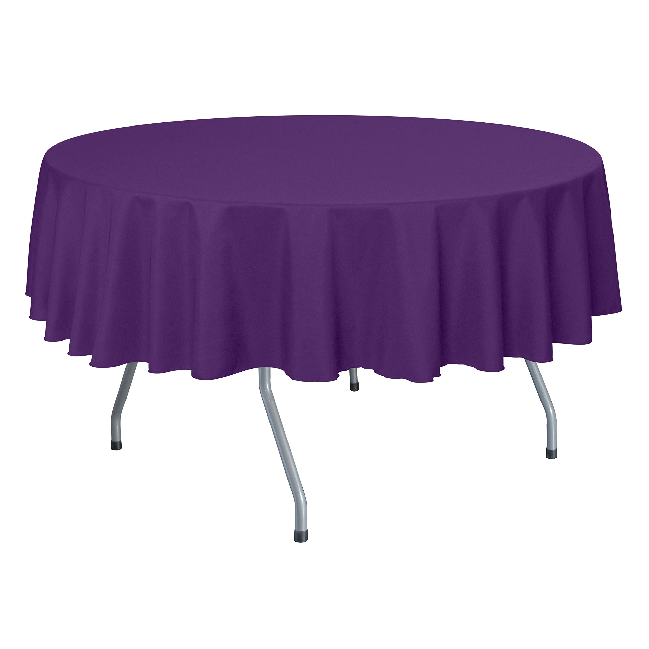 Ultimate Textile (40 Pack) 84-Inch Round Polyester Linen Tablecloth - for Wedding, Restaurant or Banquet use, Plum