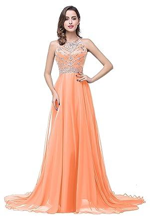 Amazon.com: Babyonline Blue Long Prom Lace Dresses Evening Gowns ...