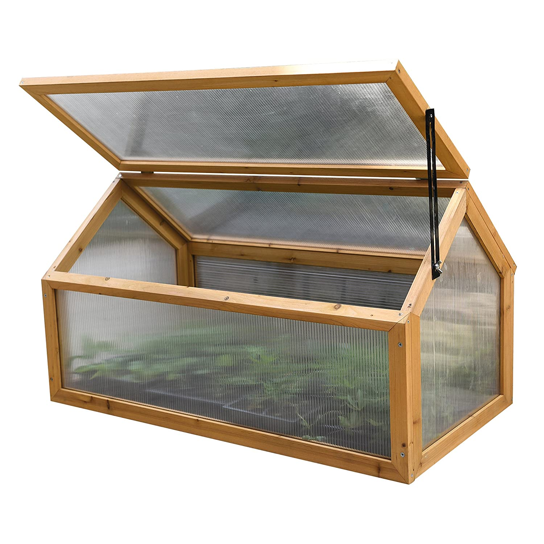 Garden Grow Aluminium Outdoor Cold Frame Grow House Polycarbonate Shelter for Garden Vegetables & Plants (Aluminium) Clifford James