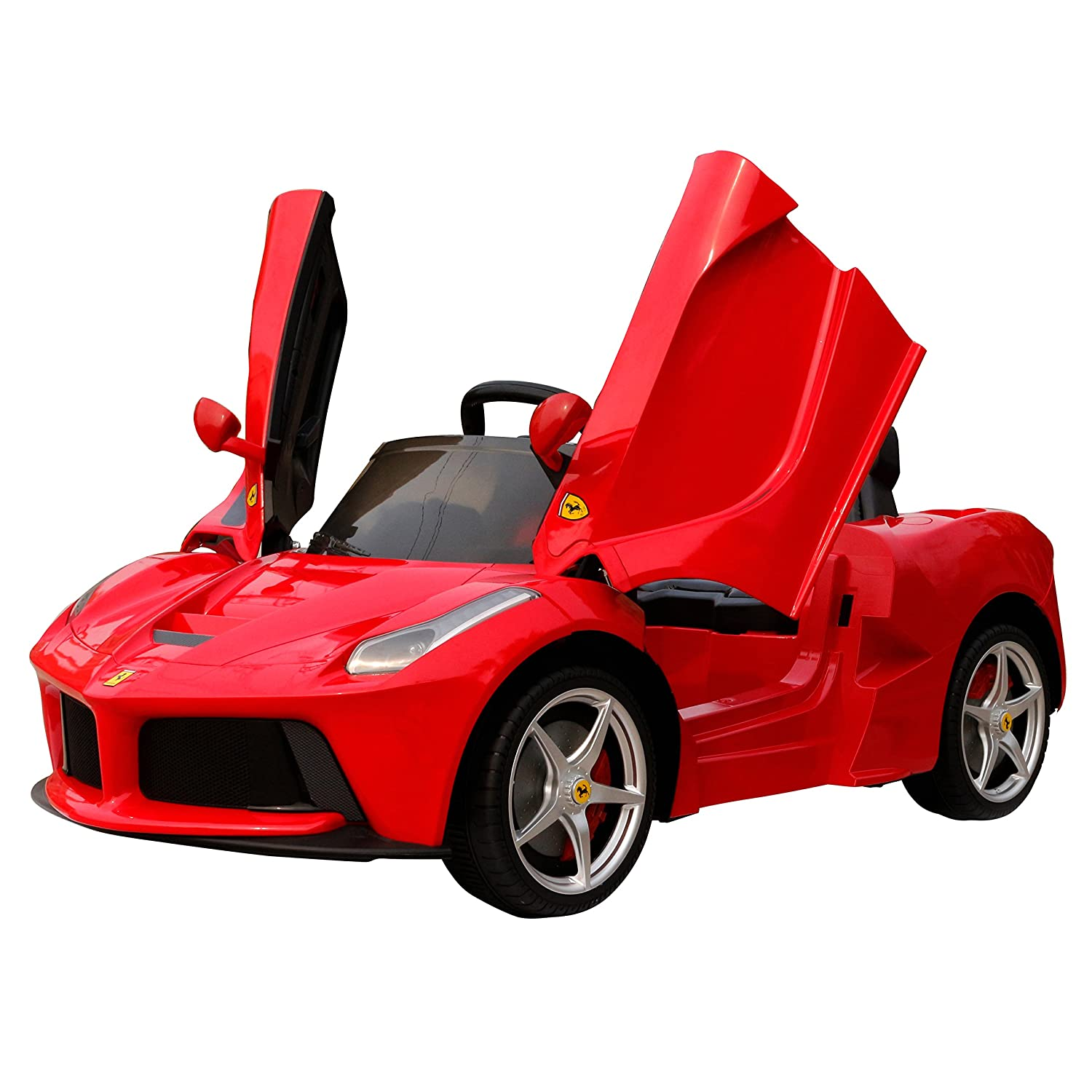 new rastar la ferrari 12v red licensed ride on car electric car with parental remote control new model for xmas 2017 amazoncouk toys games