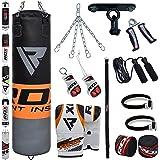 RDX MMA 13PC Set De Boxe 4FT 5FT Sac De Frappe Lourd Mural Rempli Pied Poing Kickboxing Cible Crochet De Plafond.