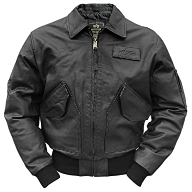 reputable site 8c598 d51f0 Alpha Industries CWU 45 Lederjacke schwarz