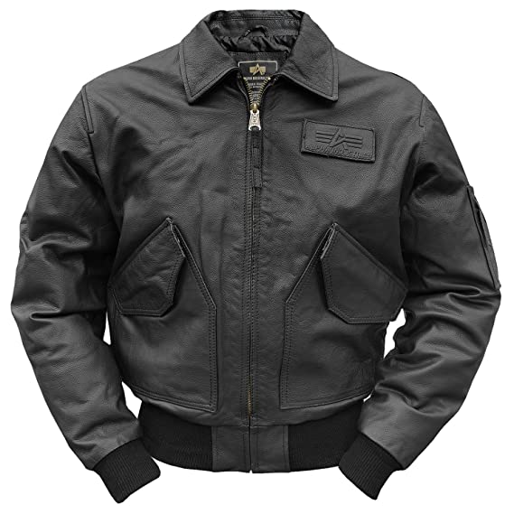 d2325a14c3cb Alpha Industries CWU-45 Leather Jacket  Amazon.co.uk  Clothing
