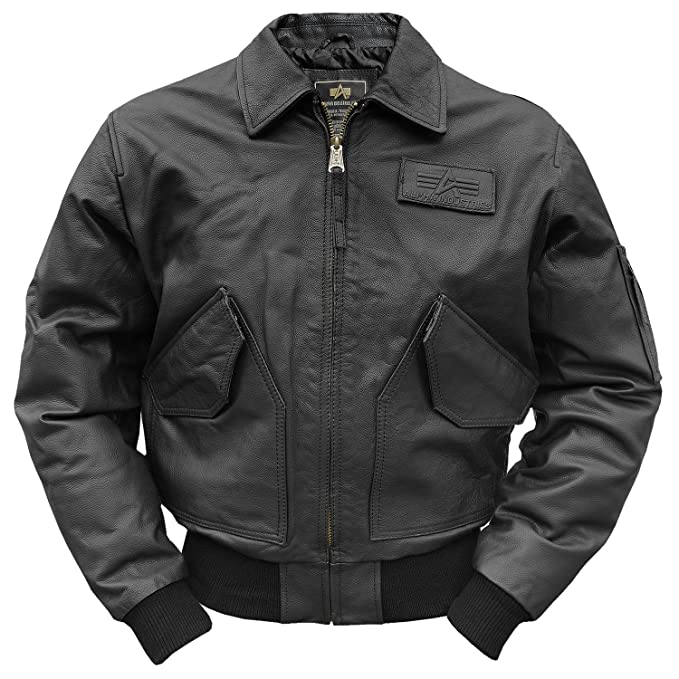 separation shoes ceb8e 46a30 Alpha Industries CWU-45 Leather Jacket: Amazon.co.uk: Clothing