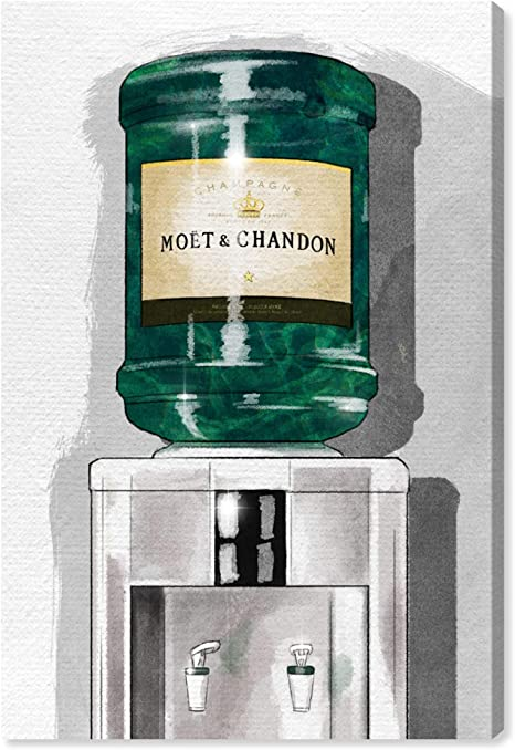 Amazon Com Oliver Gal Champagne For Days The Fashion Wall Art Decor Collection Modern Premium Canvas Art Print Home Kitchen