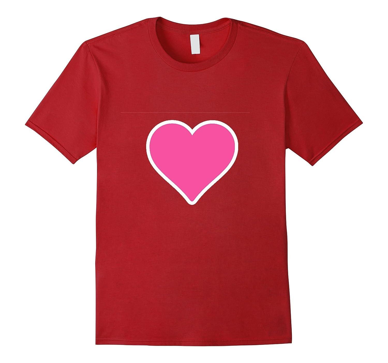 Pink Heart Emoji t shirt-CL