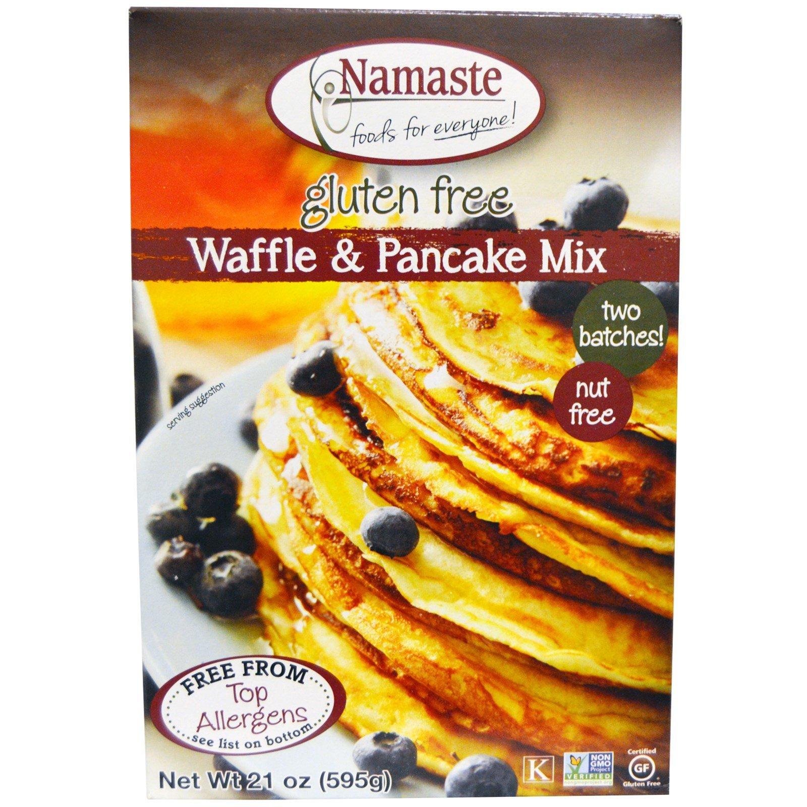 Namaste Foods, Gluten Free Waffle & Pancake Mix, 21 oz (595 g) Namaste Foods, Gluten Free Waffle & Pancake Mix, 21 oz (595 g) - 2pcs
