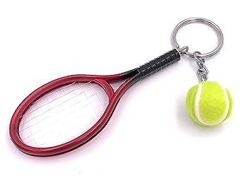H-Customs Raquetas de Tenis con Bola Colgante Llavero Bolso ...