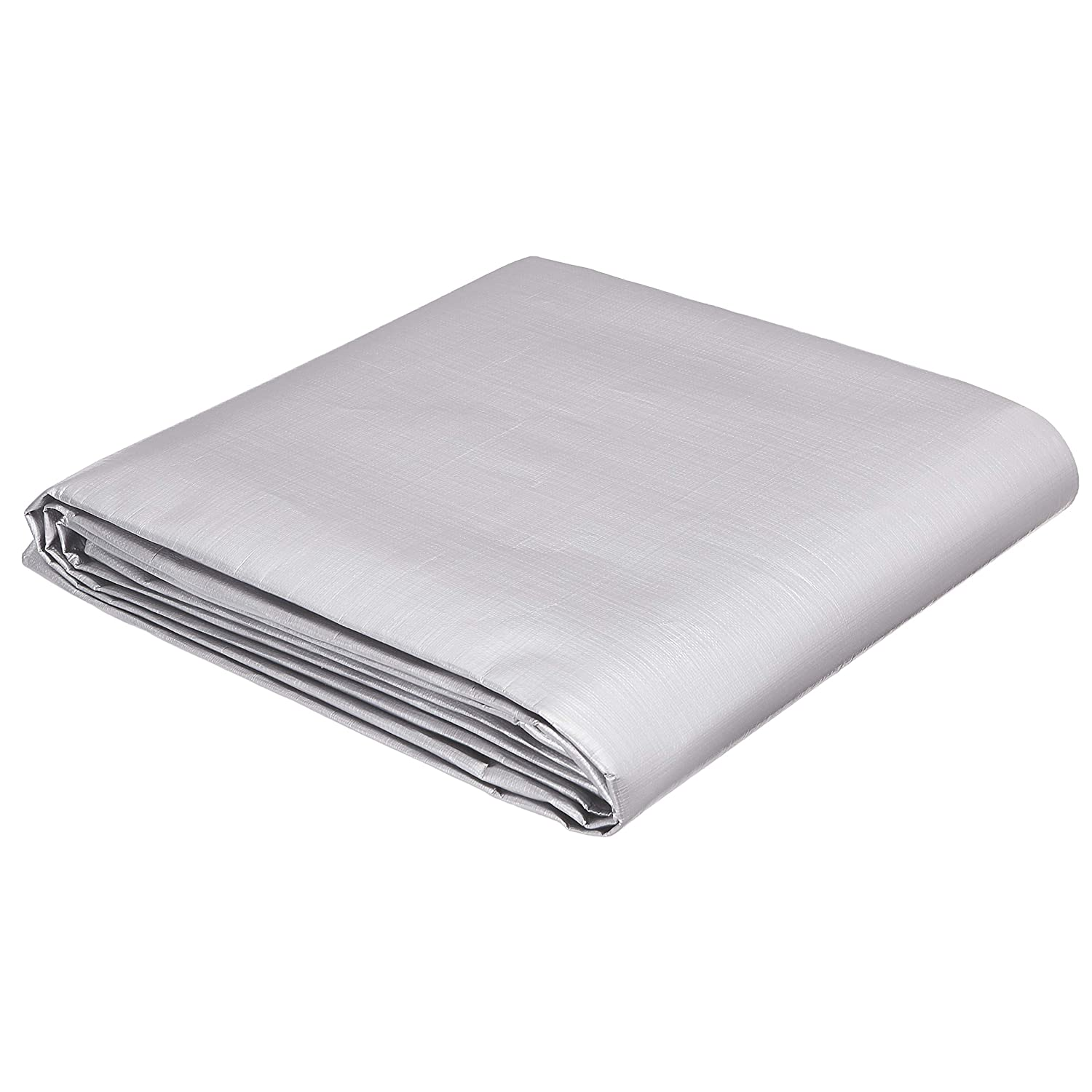 AmazonCommercial Multi Purpose Waterproof Poly Tarp Cover, 10 X 12 FT, 16MIL Thick, Silver/Black, 2-Pack