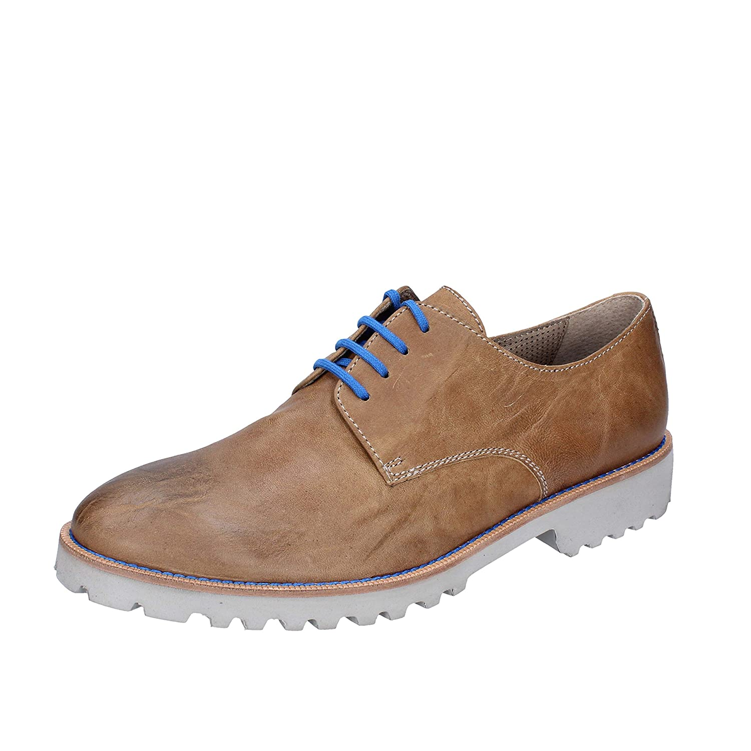 PLEASE WALK Oxfords-Shoes Mens Leather Brown