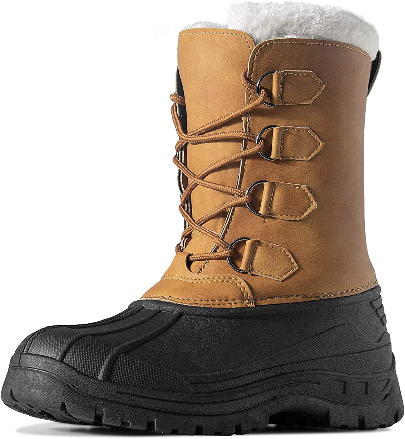 Amazon.com   HAVEDREAM Men's Winter Snow Boots, Outdoor Waterproof  Anti-Slip Warm Fur Winter Boots Lace-up Shoes for Men   Snow Boots