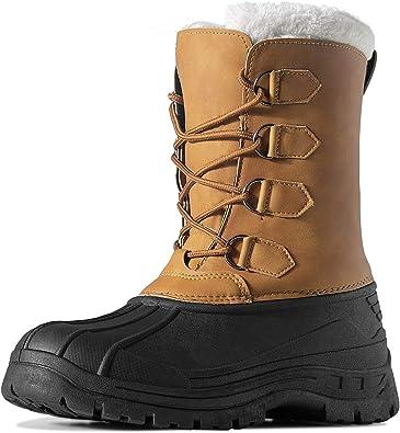 HAVEDREAM Men's Winter Snow Boots